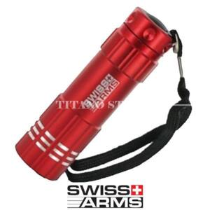 TORCIA 9LED ROSSA SWISS ARMS (263911R)