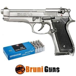 M92 SILVER 9MM + SCATOLA CARTUCCE BRUNI (BR-1305N+CARTUCCE)