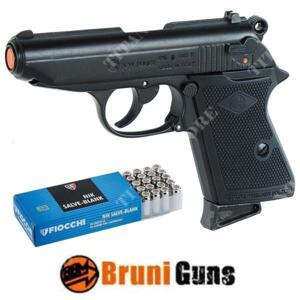NEW POLICE 9MM + SCATOLA CARTUCCE BRUNI (BR-2001+CARTUCCE)