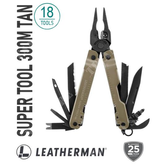 PINZA MULTIUSO SUPER TOOL 300M COYOTE TAN LEATHERMAN (832762)