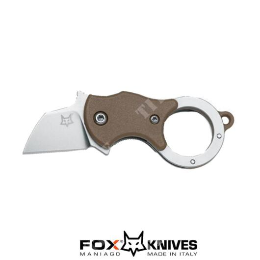 COLTELLO MINI-TA KARAMBIT LAMA INOX MAN. CY/BROWN FOX (FX-536 CB)