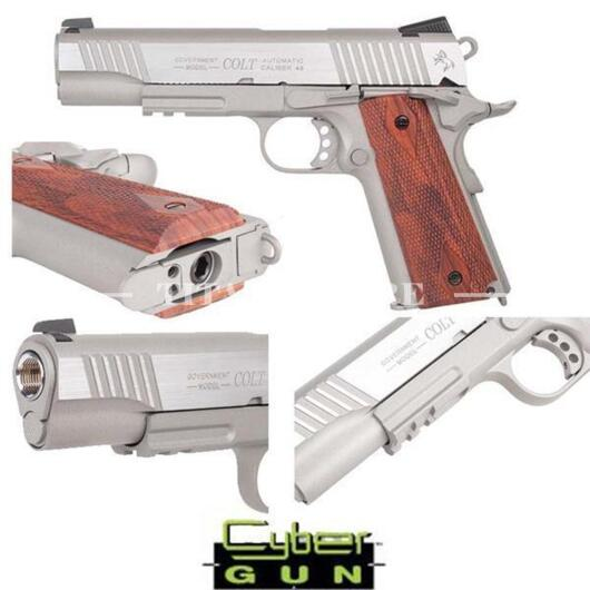 1911 COLT CO2 SILVER STAINLESS CYBERGUN (180530)
