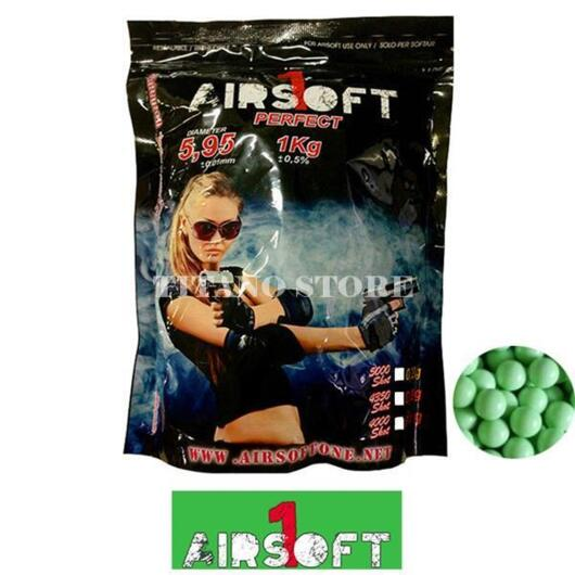 BUSTA PALLINI PERFECT 0.25 4000bb VERDE AIRSOFT ONE (AO1-25V)