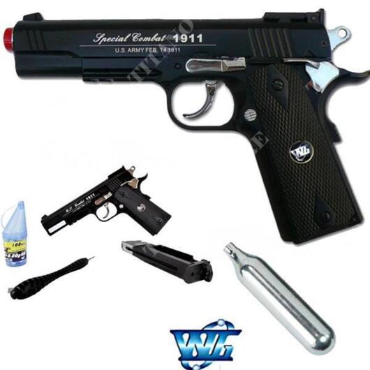 PISTOLA A CO2 COLT 1911B BLACK WIN GUN (C 601B)
