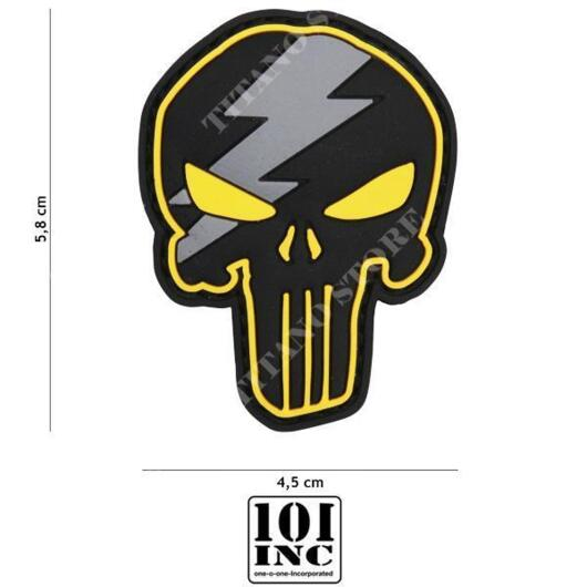 PATCH 3D PVC PUNISHER THUNDER GIALLO 19060 101 INC (444130-5306)