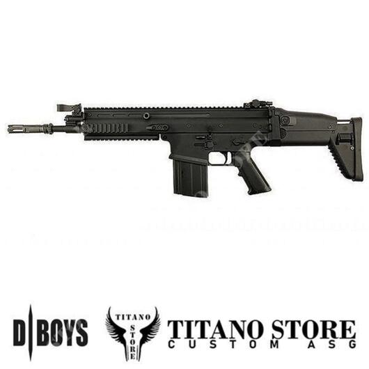 SCAR H NERO FULL METAL CUSTOM DBOYS TITANO STORE (SC02B-TS03)