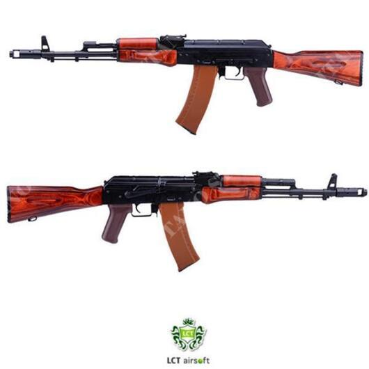 FUCILE ELETTRICO AEG NEW LCK74 NV ASSAULT RIFLE REPLICAF ULL METAL & REAL WOOD LCT (T55748)
